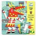 MOSAICI collage IN RILIEVO 3D kit artistico MOSTRI creativo DJECO adesivo DJ09406 età 6+