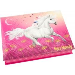 COFANETTO cavalli SET SCRIVANIA Top Model MISS MELODY cancelleria BOX rosa LOVE