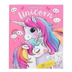 ALBUM con 70 stickers UNICORN create your TOP MODEL unicorni ILVY AND THE MINIMOOMIS 0410138_A