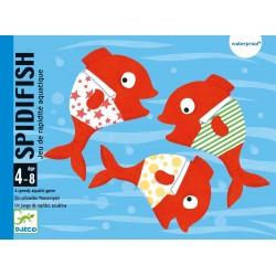 SPIDIFISH gioco di carte plastificate RAPIDITA' pesci DJECO bagnetto IN ACQUA età 4+