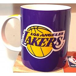 TAZZA NBA mug LOS ANGELES LAKERS in porcellana VIOLA panini BASKET pallacanestro