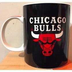 TAZZA NBA mug CHICAGO BULLS in porcellana NERA panini BASKET pallacanestro