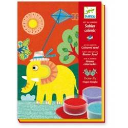 SABBIA COLORATA ALL'APERTO DJECO kit creativo decorativo per bambini dj08660
