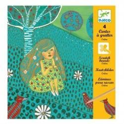 CARTE DA GRATTARE ONDINE DJECO kit creativo per bambini dj09722