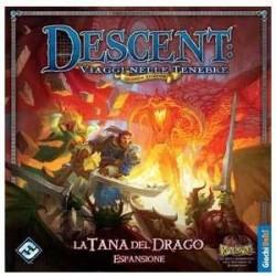DESCENT seconda edizione LA TANA DEL DRAGO 1A espansione in italiano