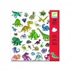 Adesivi attaccastacca DINOSAURI 160 pz Djeco sticker DJ08843