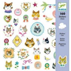 Adesivi attaccastacca GATTI - CATS 160 pz Djeco sticker DJ08849
