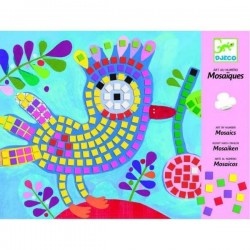 Mosaici in carta e spugna UCCELLI Djeco DJ08894