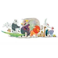 Puzzle DJECO Gigante ANIMAL PARADE 36 pezzi età 3+ DJ07171 SFILATA DEGLI ANIMALI