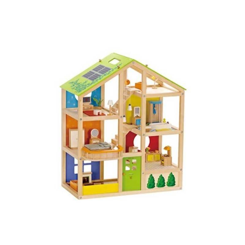 casa 4 stagioni in legno casa delle bambole hape arredata ammobiliata