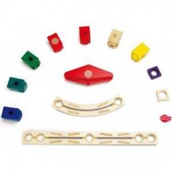 QUADRILLA SET AUTODROMO espansione gioco piste in legno per biglie età 4+