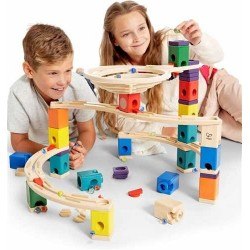 QUADRILLA WHIRLPOOL set base gioco piste in legno per biglie età 4+
