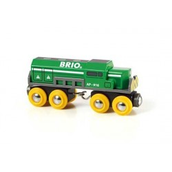 LOCOMOTIVA TRENO MERCI treni in legno BRIO trenino 33693 FREIGHT LOCOMOTIVE