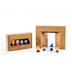 I PAPUSSI - burattini da dita - gioco in legno MILANIWOOD 100% made in Italy 3+