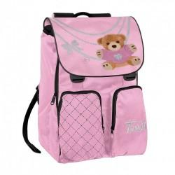 ZAINO TRUDY WITH LOVE ROSA cartella borsa bag scuola ROSA orsetto ESTENSIBILE Trudi