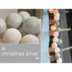 LUCI HAPPY LIGHTS CHRISTMAS SILVER NATALE fila 35 palline colorate in corda con lampadine