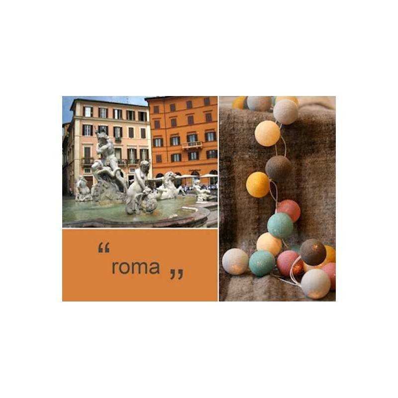 HAPPY LIGHTS LIGHTS ROME 20 row colored balls with rope ...