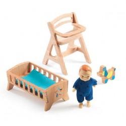 CAMERETTA BEBE LOLLY casa delle bambole accessorio mobili Djeco DJ07814 Mon petit home