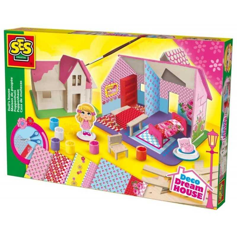 DOLLHOUSE KIT Ses Creative Deco Dream House BUILDING SET