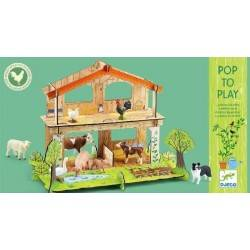 COLOURED cardboard 3D FARM to be built