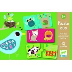 Puzzle DJECO PUZZLE DUO HABITAT 20 pz età 2+ Dj08164
