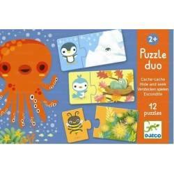 Puzzle DJECO PUZZLE DUO NASCONDINO 24 pz età 2+ Dj08156