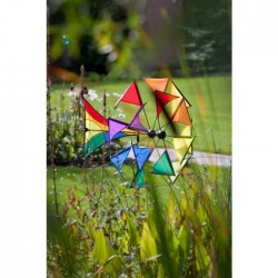WINDMILL ILLUSION RAINBOW diametro 70 cm ruota a vento INVENTO HQ wind game
