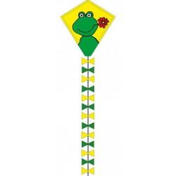 AQUILONE MONOFILO ECOLINE HAPPY FROGGY RANA single line kite INVENTO HQ