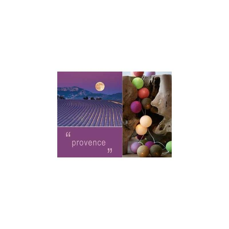 HAPPY LIGHTS LIGHTS PROVENCE 20 row colored balls with ...