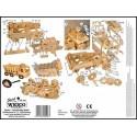 CAMION CASSONE RIBALTABILE da montare WEICO età 10+ modellismo in legno bambini