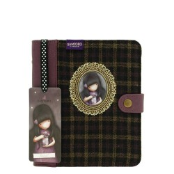DIARIO COPERTINA IN TWEED CAMEO Gorjuss 306GJ05 SANTORO Journal Notebook