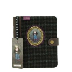 DIARIO COPERTINA IN TWEED CAMEO Gorjuss SANTORO Journal Notebook TOADSTOOLS 306GJ04