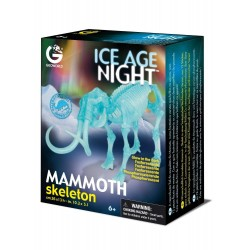 MAMMUT scheletro kit di montaggio fosforescente Geoworld Mammoth Ice Age Night