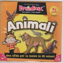 BRAIN BOX ANIMALI italiano gioco di carte memoria da 8 anni memory brainbox