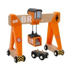 GRU A PONTE in legno treni BRIO trenino 33732 Gantry Crane wooden railway