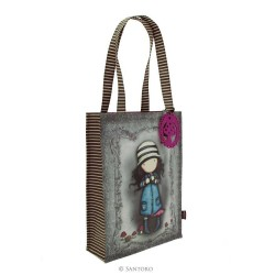 BORSA SHOPPER BAG Gorjuss TOADSTOOL coated 290GJ11 Santoro RIVESTITA